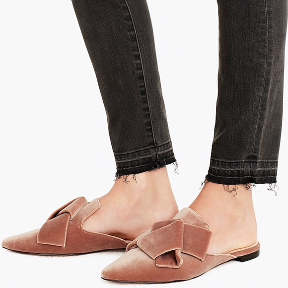 Nwb J Crew Pointedtoe Slides Mules In